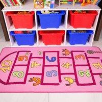 Pink Hopscotch Kids Rug