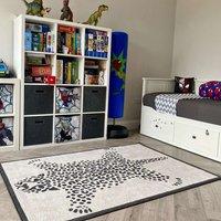 Leopard Print Soft Kids Bedroom Rugs | Nino