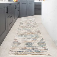 Multicolour Soft Abstract Aztec Kitchen Runner Rug | Ludlow