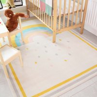 Bright Colourful Rainbow Soft Kids Bedroom Rugs | Nino