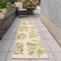 Green Palm Leaf Outdoor Runner Rug   Opera