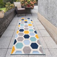 Colourful Honeycomb Outdoor Runner Rug | Opera