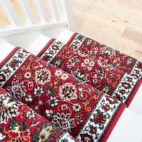 Red Traditional Stair Carpet Runner - Cut to Measure| Scala
