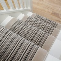 Cream Beige Stripey Stair Carpet Runner - Cut to Measure | Scala