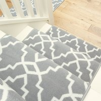 Grey Trellis Stair Carpet Runner - Cut to Measure| Scala