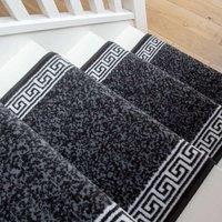 Black Border Stair Carpet Runner - Cut to Measure| Scala