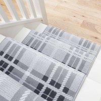 Grey Tartan Print Stair Carpet Runner - Cut to Measure | Scala