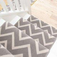 Grey Chevron Stair Carpet Runner - Cut to Measure| Scala