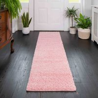 Baby Pink Shaggy Runner Rug   Vancouver