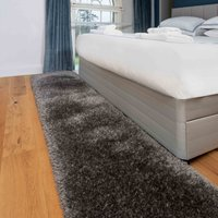 Deluxe Thick Soft Light Brown Shaggy Hall Runner Rug | Whistler