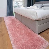 Deluxe Thick Soft Blush Pink Shaggy Hall Runner Rug   Whistler