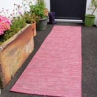 Raspberry Mottled Indoor   Outdoor Runner Rug   Patio