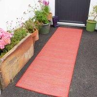 Red Mottled Indoor   Outdoor Runner Rug - Patio