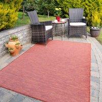 Terracotta Mottled Indoor Outdoor Garden BBQ Area Rug   Patio