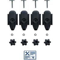 Adapter für T-Nut 20x20 zur Befestigung von Fahrradhaltern und Dachboxen