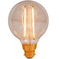 BELL 4W LED Filament 80mm Globe   BC Amber 2000K