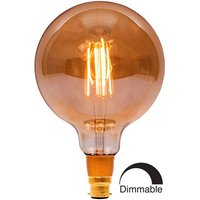 BELL 4W LED Filament 125mm Globe Dimmable   BC Amber 2000K