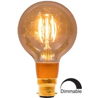 BELL 4W LED Filament 80mm Globe Dimmable   BC Amber 2000K
