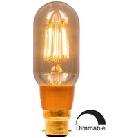 BELL 4W LED Filament Tubular Dimmable   BC Amber 2000K