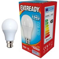 Eveready 14w LED GLS Opal BC 6500K   S13627