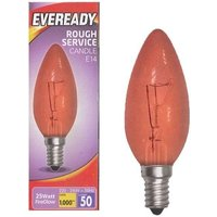'Eveready 25w Ses Fireglow Candle Lamp - S11906