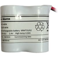 Bright Source Emergency 2 Cell Battery Side By Side 2 4v 4 0ah