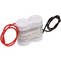 Yuasa 2DH4 0L3   Emergency Battery 2 Cell Side by Side c w Leads