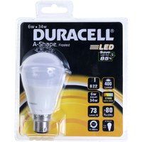 Duracell LED 5 6W BC Frosted GLS   S7057