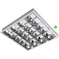 Emergency 600mm x 600mm Surface Modular 18w Fluorescent Tube Fitting c w CAT2 Louvre