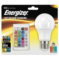 Energizer 9w LED GLS Edison Screw RGB With Remote