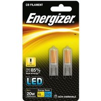 Energizer 2w LED G9 3000k   Twin Pack