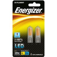 Energizer 2w LED G9 6500k   Twin Pack