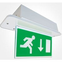 Eterna 3 5w LED Emergency Double Sided Exit Sign   Maintained
