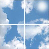 Powermaster 40w LED Skylight Panels   Sky Clouds
