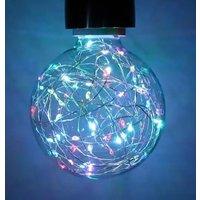 1 7w LED Star Effect RGB E27 Globe   95mm