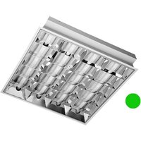 Emergency 600mm x 600mm Recessed Modular 18w Fluorescent Tube Fitting c w CAT2 Louvre
