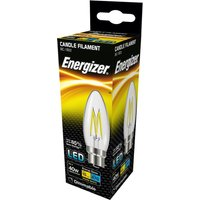 Energizer 5w BC LED Clear Filament Dimmable Candle 2700k   S12855
