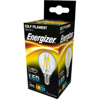 Energizer 4w SES Clear LED Filament Golf Ball 2700k   S12872