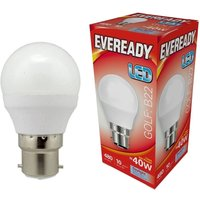 Eveready 6w LED Golf Ball Opal BC 6500K   S13603