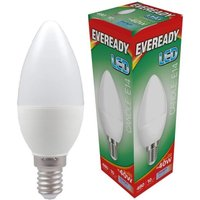 Eveready 6w LED Candle Opal SES 6000K   S13617