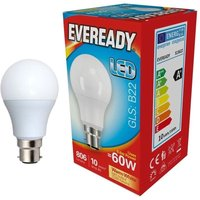 Eveready 9 6w LED GLS Opal BC 3000K   S13622