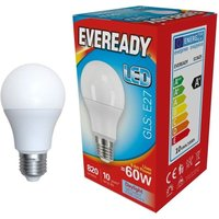 Eveready 9 6w LED GLS Opal ES 6500K   S13625