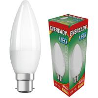 Eveready 6w LED Candle Opal BC 3000K   S13610