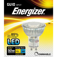 Energizer 5 5w 36deg Dimmable LED GU10 3000K   S9410