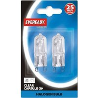 Eveready 25w G9 Halopin Capsule    Twin Pack