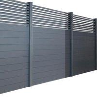Poteau pour clôture aluminium blanc 75