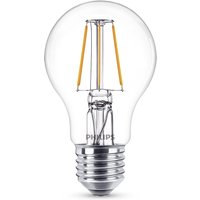 Philips Leuchtmittel LED Classic Lampe E27 klar, 4 W, 2700 K