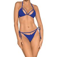 Neckholder Bikini blau