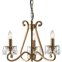 Interiors 1900 UL1P3B Oksana Antique Brass 3 Light Ceiling Pendant   Fitting Only