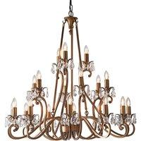 Interiors 1900 UL1P21B Oksana Antique Brass 21 Light Ceiling Pendant Light   Fitting Only